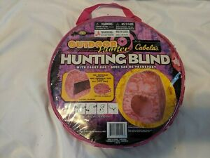 Cabela's Outdoor Hunter Hunting Blind tent PInk Camo for children