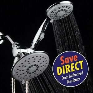Hydroluxe Premium 30 Setting / 6 Inch Rainfall Shower Head / Hand Shower Combo