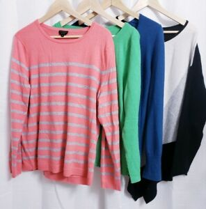 Lot of 4 Women's XL 100% CASHMERE Sweater Cutter Crafts Upcycle Repurpose