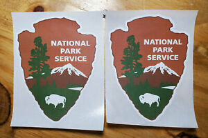 National Park Service NPS Decal Stickers Two 2 per lot WATERPROOF $3.00