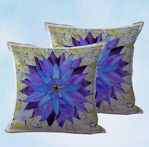 set of 2 mandala flower yoga meditation cushion cover cool decorative