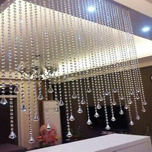 30FT Acrylic Crystal Bead Chandelier Garland Hanging Wedding Curtain P8PL