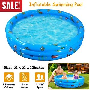 51quot; Inflatable Swimming Pool Family Kids Play Pool Blow Up Children Toddler