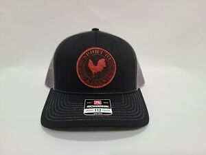 PalenkeBrand Engraved Leather Patched Curvebill Snapback Game Cock Rooster Hats
