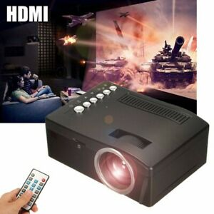 1080P Home Portable Theater Projector Multimedia Movie DVD PC TV AVUSB TFHDMI