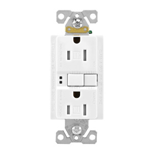 Eaton TRSGF15W 15 Amp 125V GFCI TR Duplex Receptacle with Self-Test, White