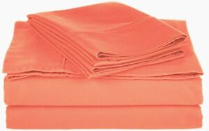 3-pc TwinXL Coral Superior Cotton Rich 800 Thread Count Sheet Set