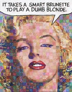 MARILYN MONROE Original Pop Art by Huiskens Homage to Andy WarholLichtenstein