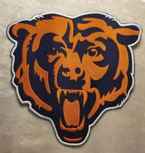 Chicago Bears HUGE 8quot; Jacket Size Iron Sew On Embroidered Patch FREE Ship