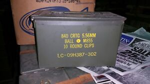 2 X   Ammo Can M2A1 US Military  5.56 Markings        Grade A