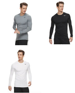 Nike Men's Dri FIT Base Layer Fitted Cool Top Shirt exercise gym running $19.99