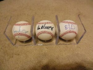 Lot of 26 Different Autograph Baseballs Cleveland Indians Ken Rowe Collection $260.00