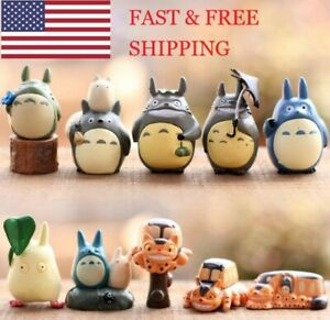 10 Pack Anime My Neighbor Totoro Action Figures Toy Set USA SELLER