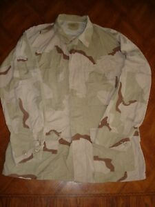 US ARMY MILITARY DESERT CAMO COMBAT JACKET 4 POCKET MED-REGULAR