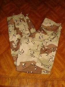 U.S. ARMY MILITARY CHOCOLATE CHIP DESERT COMBAT PANTS TROUSERS  SMALL X LONG