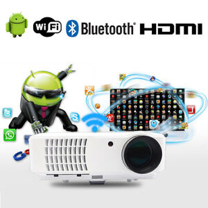 WIFI Projector 4000 Lumens 1080P Full HD Home Theater Android LED Projector HDMI