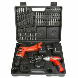 74 pc Combo Cordless Drill & Driver 2 Batteries with Acc Bits and Charger