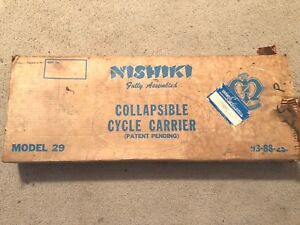 VINTAGE HARD TO FIND MODEL 29 NISHIKI COLLAPSIBLE CYCLE CARRIER USED