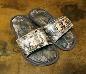 Boys Under Armour Camo Slides size 1 Free Shipping
