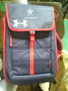 Limited Edition Under Armour Storm1 USA Gymnastics Red White Blue Backpack Bag $33.00