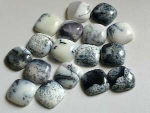 Amazing Lot Natural Dendrite 16X16 mm Cushion Cabochon Loose Gemstone