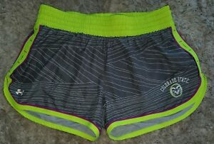 Under Armour Heat Gear Women's Running Shorts Large Colorado State