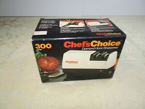 Chef's Choice Diamond Hone Electric Sharpener Knife Box + Instructions Model 300