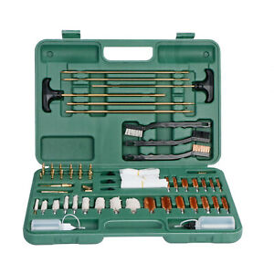 163 PCS Gun Cleaning Kit w Pro Brass Jags Patch Holders and Adapters