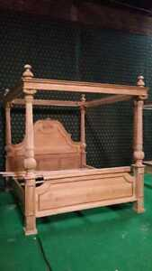 Super King size designer French style 100% solid wood Mahogany four poster bed