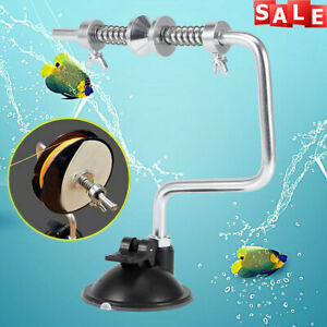 Portable Fishing Line Reel Spooler Winder Spool Winding System Tackle Silver
