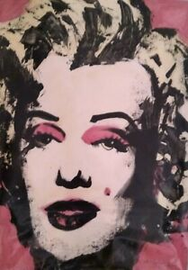 Andy Warhol Acrylic On Thick Paper Signed With COA And Replacement Value