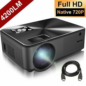 Projector BARZAA Video Projector 4200Lux Full HD Projector LED Home Theater P