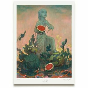 SIGNED James Jean Melon Limited Edition Giclee Art Print Poster Watermelon LE