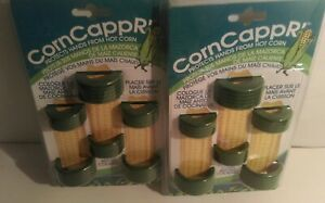 2X Silicone, safe to boil, corn on the cob holders. Protects hands from hot corn