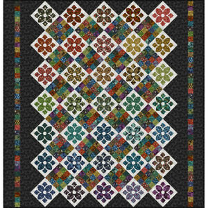 In the Beginning Garden Delights Radiant Blooms Quilt Kit 77 by 80 inches