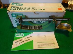 RCBS Powder  Reloading Scale  5-0-5
