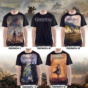 Custom GreedFall video game T Shirts Jersey PlayStation 4 XBOX game $27.67