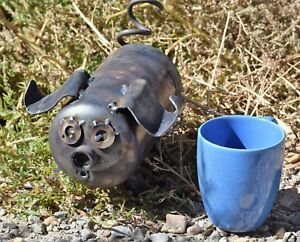 """quot;Piglets"""" Metal Garden or Yard Art pig made of Coleman propane tanks recycled $30.00"""