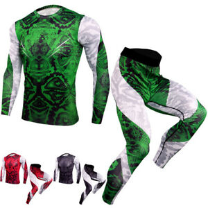 Mens Compression Athletic Baselayers Workout Legging Quick dry Shirts Tight fit $14.78