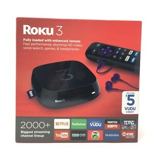 ROKU 3 Wireless HD Streaming Digital Media Player 4230X1 Excellent Condition