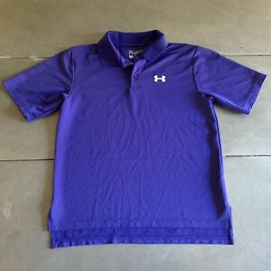 Boys Youth Size Medium Under Armour Polo Shirt Heat Gear