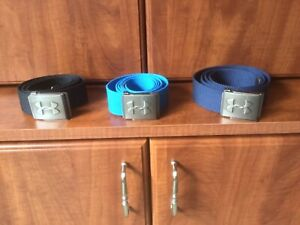 Under Armor Three Brand New Webbed Golf Belts one size fits All!