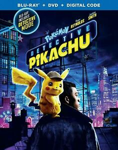 Pokemon Detective Pikachu (Blu-ray+DVD+Digital) no slipcover NEW