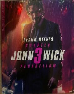 John Wick: Chapter 3 Parabellum (Blu-ray + DVD + Digital) Brand New W:Slipcover