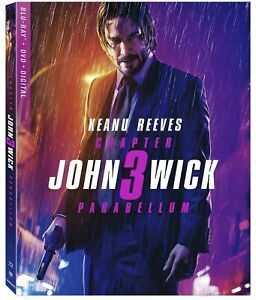 John Wick: Chapter 3 - Parabellum, 2019 (Blu-Ray + DVD + Digital) with slip case