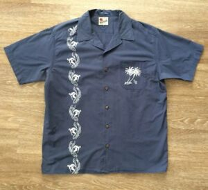 Tommy Hilfiger Button Up Island Shirt Nearly Vintage (2000) Beach Palm Trees