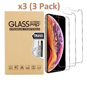 3 Pack For iPhone 12 Pro 11 7 8 Plus X Xs Max XR Tempered GLASS Screen Protector $3.65