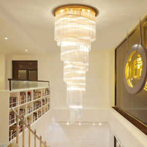 Luxury  crystal light hotel lobby chandeliers villa stairs ceiling Lights#XD2031