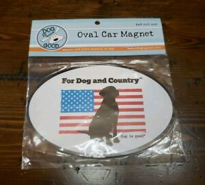 For Dog and Country Oval Magnet