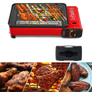 Stainless Steel Smokeless BBQ Grill Gas Stove Portable Outdoor Home Picnic USA